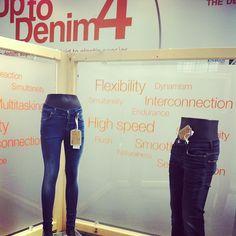 """Up to Denim 4! The Denim sapiens: from rigid to elastic species"" ! #uptodenim4 #flexibility #denimbypremierevision #espritjeans #denimlovers #welove !!!"