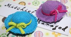 Crochet Mini Summer Hat Hairclips    My daughter, Jordana Kendall, just had her first haircut last week. It's amazing how different she lo...
