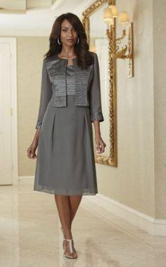 Georgette Jacket Dress from Midnight Velvet. www.midnightvelvet.com