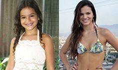 Antes e depois dos atores mirins - Bruna Marquezine, Brazilian actress -foto: MdeMulher - Ed. Abril