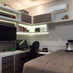 √ Teenage Girl Bedroom Ideas For Small Rooms Bedroom Workspace, Home Office Bedroom, Bedroom Setup, Small Room Bedroom, Trendy Bedroom, Home Office Decor, Small Rooms, Modern Bedroom, Girls Bedroom
