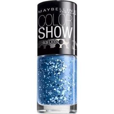 Color Show, Polka Dots, Nail Lacquer 95 Blue Marks The Spot By Maybelline