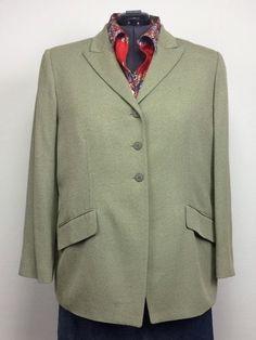 NWT $465 Linda Allard Ellen Tracy 22 Sage Green/Gray Tweed Blazer Jacket Plus Sz #LindaAllardEllenTracy #JacketBlazer