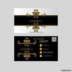 Pin by rimi qureshi on business card pinterest business cards vector elegant business card with ornament reheart Gallery