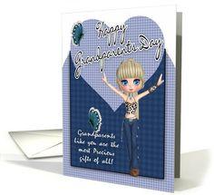 Grandparents Day Card - Cute Little Western Girl card (660189)