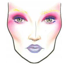 "The Hunger Games ""Effie Trinkett"" MAC Makeup Face Charts for Halloween"