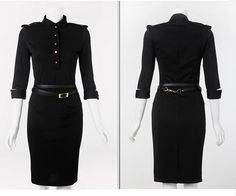 Victoria Beckham Vintage Slim Long-sleeve Slim Wrapped Hips One-piece
