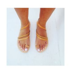 #new #handmade #greeksandals #real #leather ❤