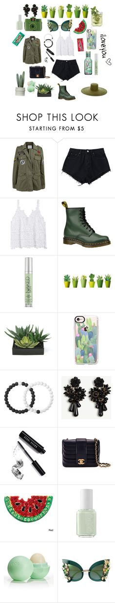 """""""Forest green"""" by mintmila ❤ liked on Polyvore featuring Velvet by Graham & Spencer, Dr. Martens, Urban Decay, Lux-Art Silks, Casetify, Lokai, Ann Taylor, Bobbi Brown Cosmetics, Chanel and Guide London"""