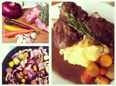 Red Wine Braised Lamb Shanks from zenbellyblog.  I have to try this.