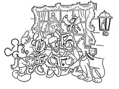 Donald Duck Reading a Book Coloring Page   D is Disney colouring ...