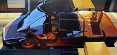 Visual Futurism: Incredible Artworks by Syd Mead | Daily design inspiration for creatives | Inspiration Grid Diesel Punk, History Channel, Blade Runner, Aliens, Minnesota, Syd Mead, 70s Sci Fi Art, Art Deco, Futuristic Design