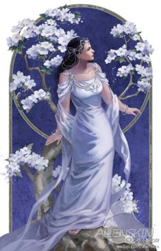 Arwen, Coloring for adults - Kleuren voor volwassenen Lotr, Arwen Undomiel, Elven Princess, Fantasy Art, Fantasy World, Luthien, J. R. R. Tolkien, Elves And Fairies, Middle Earth