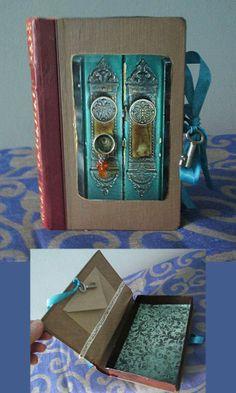 Old book got a new life as a 'gift' or something else. Vanha kirja sai uuden elämän lahjana, koristeena tai säilytysrasiana.