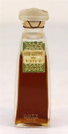 Vintage Emeraude DE Coty Perfume Rare Original Sealed Bottle NEW York Paris | eBay