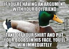 How to win an argument with your boyfriend :)
