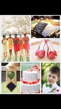 Late summer wedding, bridesmaids