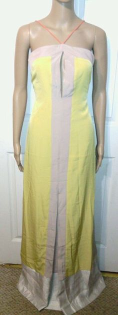 Sachin and Babi dress SZ 8 anthropologie full length maxi NWT color block M long #Anthropologie #Maxi #Formal