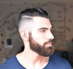 mens hairstyle with beards