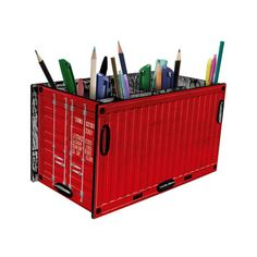 Porta Treco Container Vermelho - StickDecor | Decoração Criativa