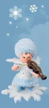 Schneeflöckchen mit Geige 43056