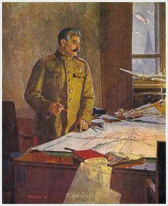 Generalísimo Stalin (Генералиссимус И. В. Сталин, 1948) Fyodor Pavlovich Reshetnikov (Фёдор Па́влович Реше́тников. Unión Soviética. Ucrania/Rusia, 1906-1988)*