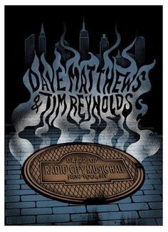Dave Matthews and Tim Reynolds Poster - 4-22-2007 Radio City Music Hall, New York, NY
