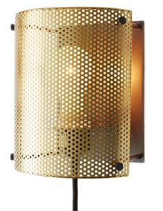 Industrial with a hint of glam - this would look fabulous flanking a bed. - See more at: http://www.decorist.com/find_detail/28952/perforated-metal-sconce/#sthash.YyHsvTET.dpuf