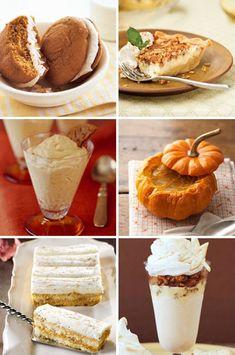 Autumn desserts:  Pumpkin Spice Whoopie Pies  Pecan Cheesecake Pie  Ginger Pumpkin Mousse  Pumpkin Spice Creme Brulee  Pumpkin Tiramisu  Gingersnap Crumble Pumpkin Parfait