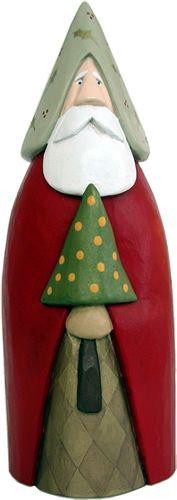 carved santas | Carved Santas, Santa wood carving, Carved Santa, Hand carved Santas  -- sleek lines - cypress knee possibiliy...