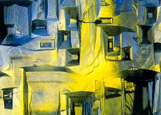 Microscopy: 1992: Gem beryl crystal (8x) Rheinberg illumination