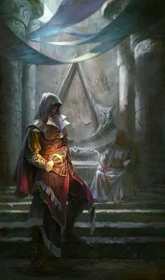 The Library (Assassin's Creed: Revelations). This was the saddest moment from any Assassin's Creed games! Manga Comics, Geeks, Dark Fantasy, Fantasy Art, Arte Assassins Creed, Asesins Creed, Assassin's Creed Brotherhood, Arte Ninja, Video Game Art