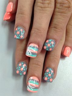 Spring by Julieakapink from Nail Art Gallery | Repinned by @emilyslutsky #slimmingbodyshapers How to accessorize your look Go to slimmingbodyshapers.com for plus size shapewear and bras