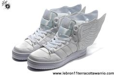 2013 New Adidas X Jeremy Scott Wings 2.0 Shoes All White Basketball Shoes Shop