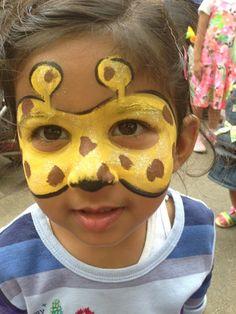 kind als giraffe schminken augen gelb braun #fasching #carnival