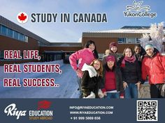 Study at Yukon College in Canada and be successful !!! Those who wish to know more details can get in touch with Riya Education. Visit our website http://www.riyaeducation.com/contact/ #studyincanada #abroadeducation #studyabroad