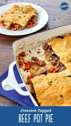 Classic pot pie gets a tasty makeover in this super-easy crescent-topped casserole that has all of the same flavors of that comfort food favorite! Fridge staples like ground beef, mushrooms, carrots and onions come together for this dinner that's easy on the wallet.
