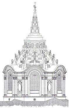 Guarino Guarini - Esterno della cupola della Cappella della Sindone - Torino