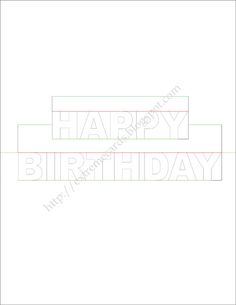 How To Make A Birthday Pop Up Card Of The Words   Happy Birthday Cards Templates