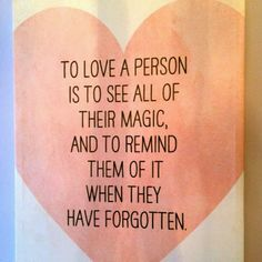 To love a person is