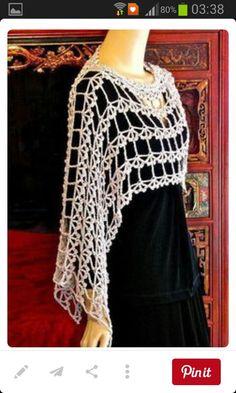 Crochet Blusas Ravelry: Alzannah Custom Convertible Vest pattern by Vashti Braha - Alzannah is a quick to crochet vest that converts easily to an asymmetrical Crochet Blouse, Crochet Scarves, Crochet Shawl, Crochet Clothes, Crochet Lace, Crochet Vests, Crochet Stitches, Crochet Shrugs, Diy Clothes