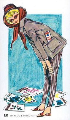 #151 Barbie Jumbo Fashion Trading Card