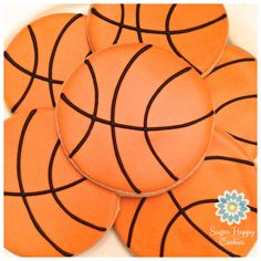 ideas for basket ball cookies royal icing Basketball Cookies, Basketball Birthday, Basketball Party, Basketball Hoop, Basketball Players, Iced Cookies, Cupcake Cookies, Sugar Cookies, Cookie Baskets