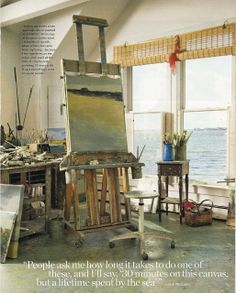 Brightly the universe: artist anne packard in coastal living magazine