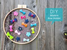 This bow holder tutorial is simple and fun, and the results are beautiful.