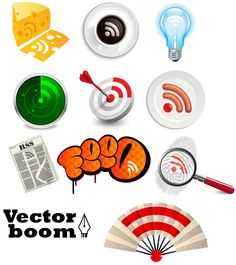 Free Vector Pack - RSS Icons - Creative Collection - Freebies - Free Vectors - Vectorboom