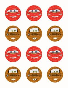 Disney Cars Lightning McQueen & Tow Mater Face Edible Icing Sheet Cake Decor Topper – Bling Your Cake Cupcake Cookies, Mini Cupcakes, Cupcake Toppers, Disney Cars Cake, Disney Cakes, Lightning Mcqueen, Bolo Mickey Baby, Cars Cake Pops, Tow Mater