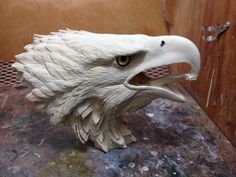 Marlen L. Antler Crafts, Antler Art, Bone Crafts, Eagle Art, Wood Bird, Art Carved, Bone Carving, Animal Sculptures, Art Plastique