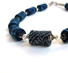 Wearable art Morning Glory fiber necklace by Gilgulim on Etsy, $47.00