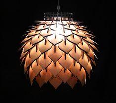 Spore Lamp - Laser Cut Pendant Lamp Lighting by TerraformDesigns on Etsy… Lampe 3d, Lampe Tube, Pendant Light Fixtures, Pendant Lighting, Pendant Lamps, House Lighting, Laser Cut Lamps, V Model, Custom Shades